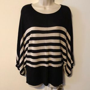 SALE!!🎉 ANTHRO LYN BLACK AND WHITE STRIPED BLOUSE